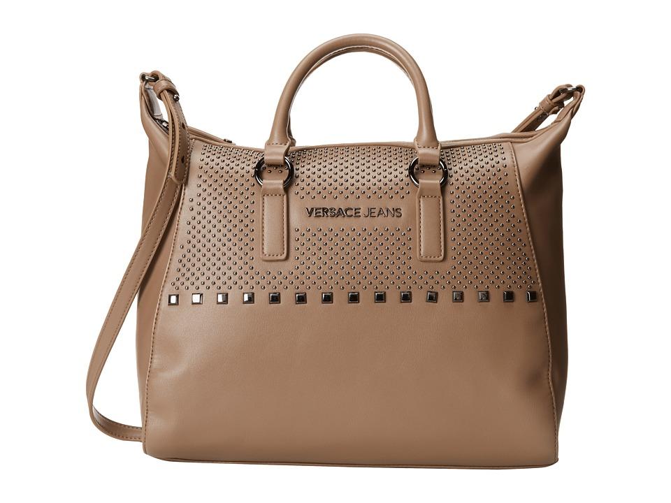 Versace Jeans - Studded Satchel (Taupe) Satchel Handbags