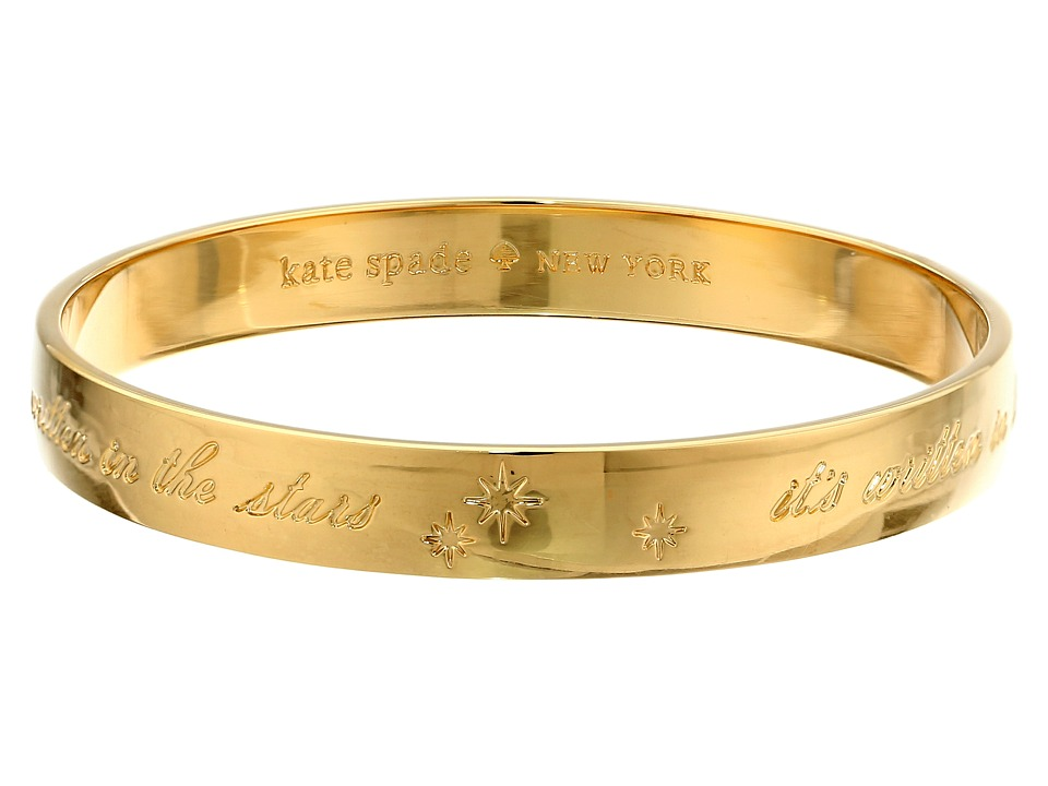 Kate Spade New York - Engraved Idiom Bangles - It's Written In The Stars (Gold) Bracelet