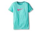 Nike Kids S/S Legend Top (Little Kids/Big Kids) (Bleached Turquoise/Dark Grey Heather/Hyper Pink)