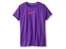 Nike Kids S/S Legend Top (Little Kids/Big Kids) (Hyper Grape/Dark Grey Heather/Hyper Punch)