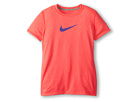 Nike Kids S/S Legend Top (Little Kids/Big Kids) (Hyper Punch/Dark Grey Heather/Hyper Grape)