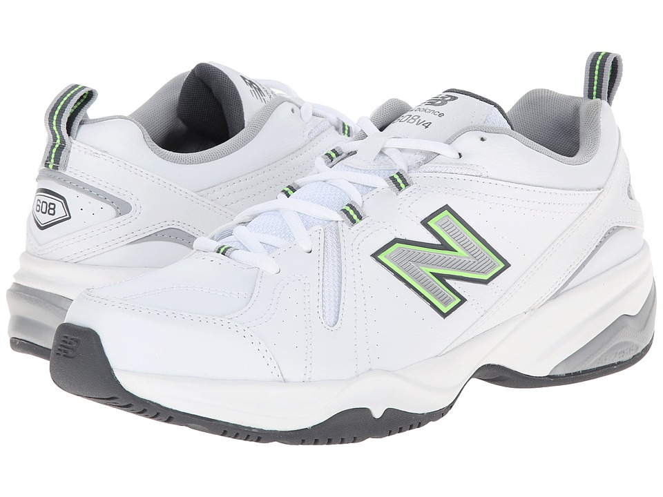 New Balance - MX608v4 (White/Silver) Men's Walking Shoes