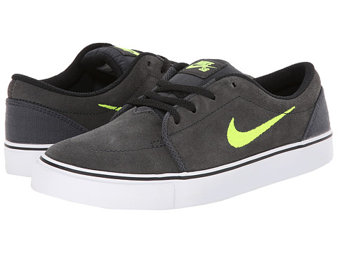Nike SB Kids - Satire (Little Kid) (Anthracite/Volt) Boys Shoes