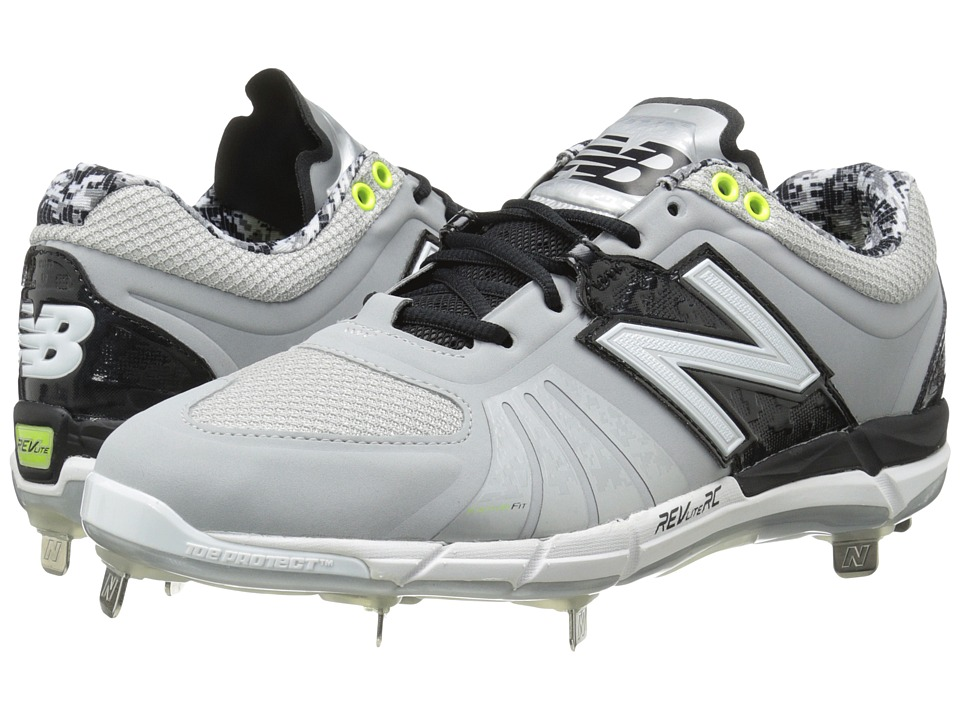 New Balance - L3000v2 (Grey/Black) Men's Cleated Shoes