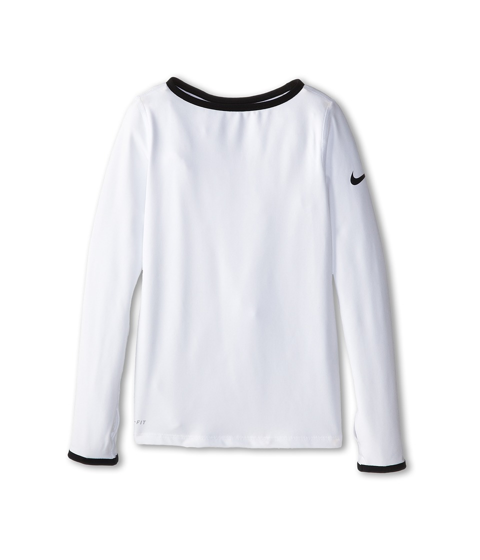 Nike Kids - Hyperwarm 3.0 Crew (Little Kids/Big Kids) (White/Black/Black) Girl's Workout