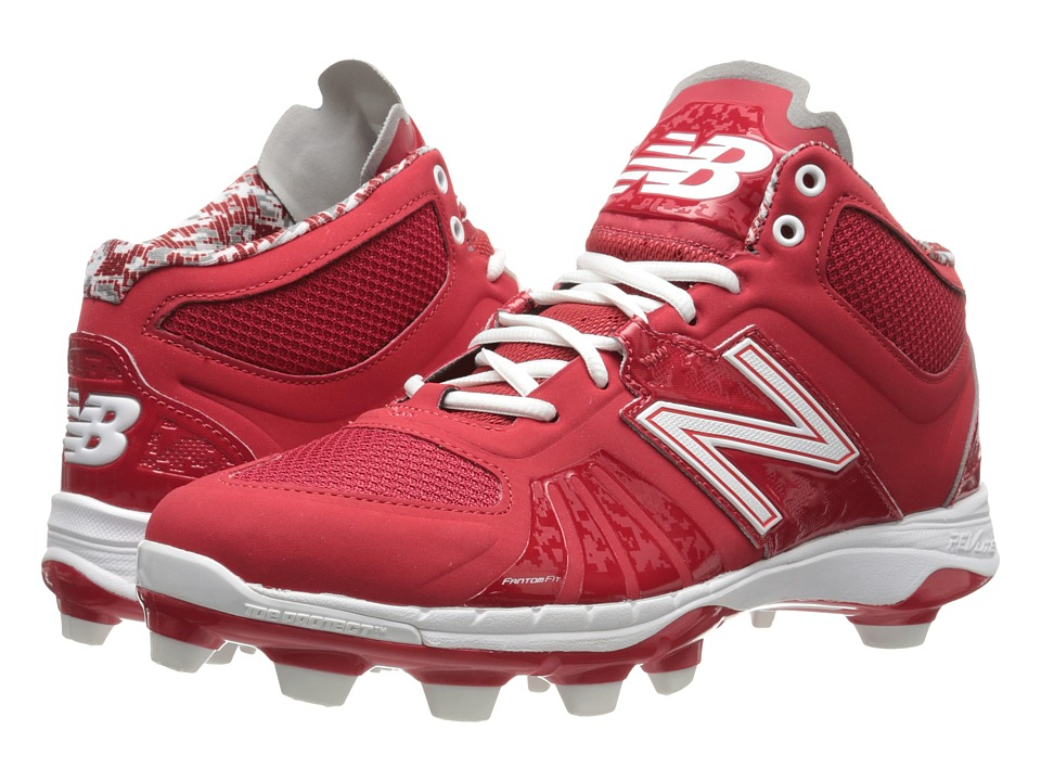 New Balance - MB2000v2 Mid (Red) Men's Cleated Shoes