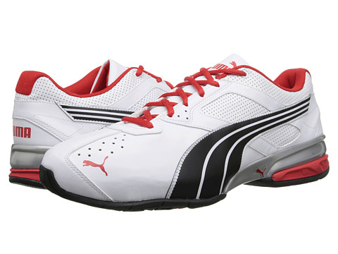 PUMA - Tazon 5 - Wide Width (White/Black/High Risk Red) Men