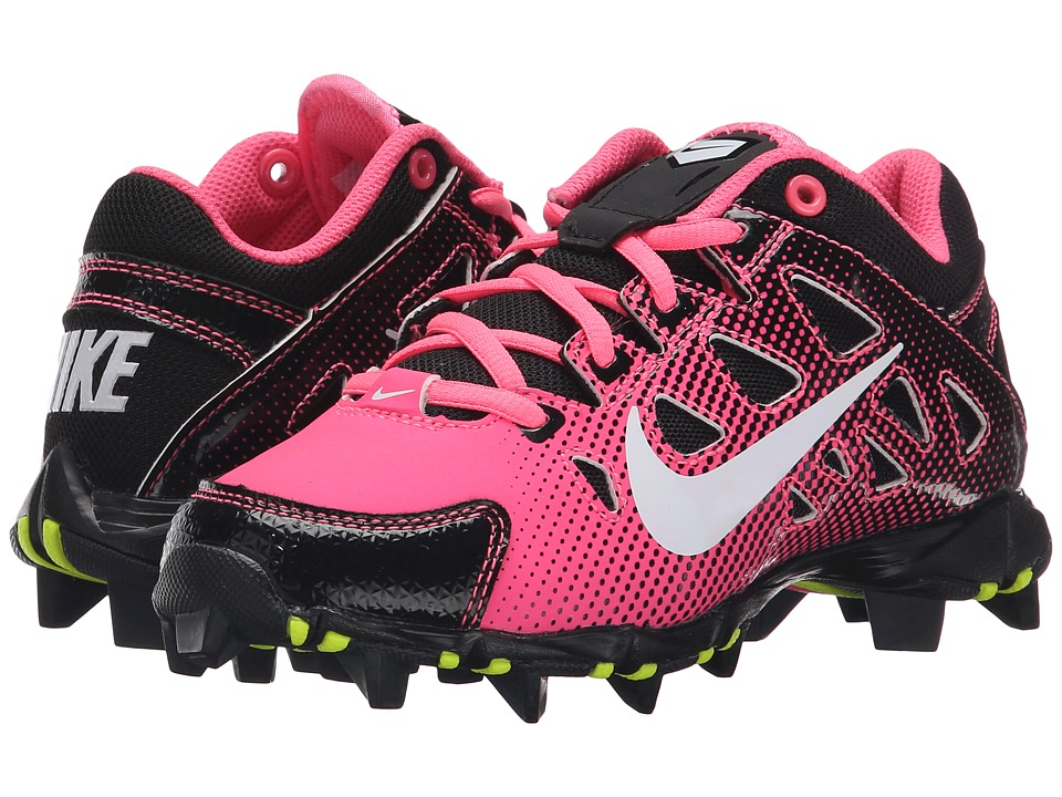 Nike Kids - Hyperdiamond Keystone Baseball (Toddler/Little Kid/Big Kid) (Digital Pink/Black/White) Kids Shoes