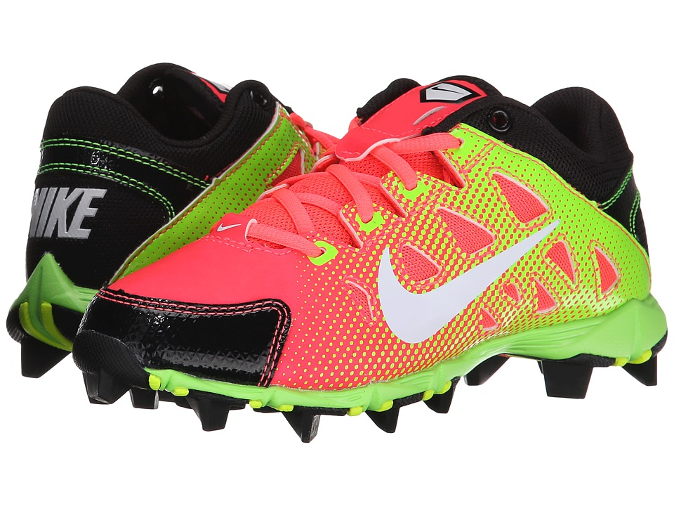Nike Kids - Hyperdiamond Keystone Baseball (Toddler/Little Kid/Big Kid) (Atom Red/Black/Electric Green/White) Kids Shoes