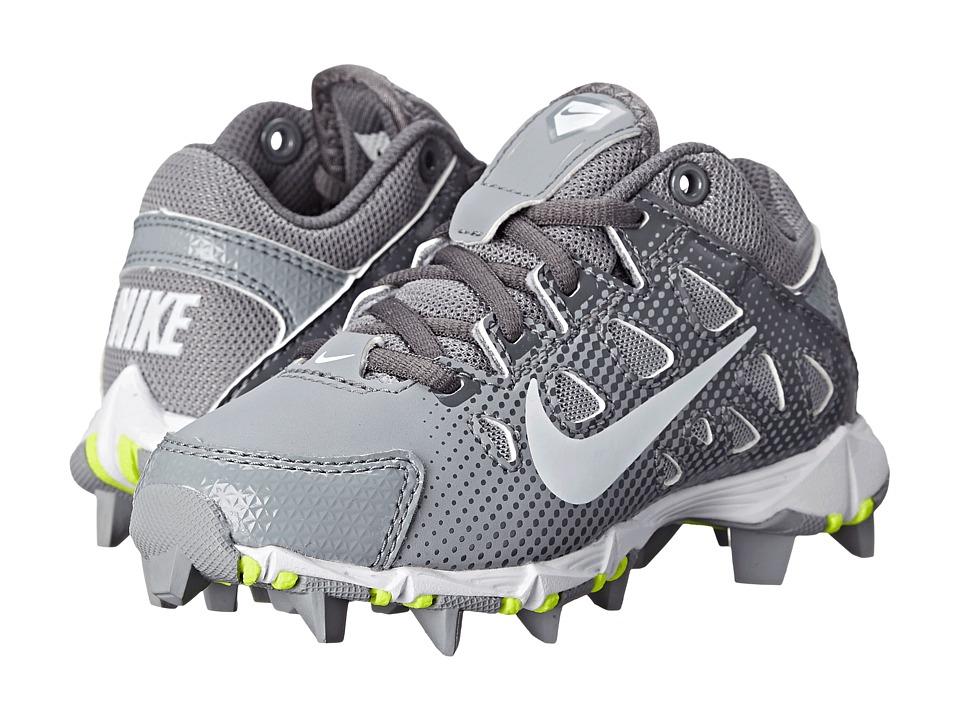 Nike Kids - Hyperdiamond Keystone Baseball (Toddler/Little Kid/Big Kid) (Stealth/Light Graphite/Volt/White) Kids Shoes