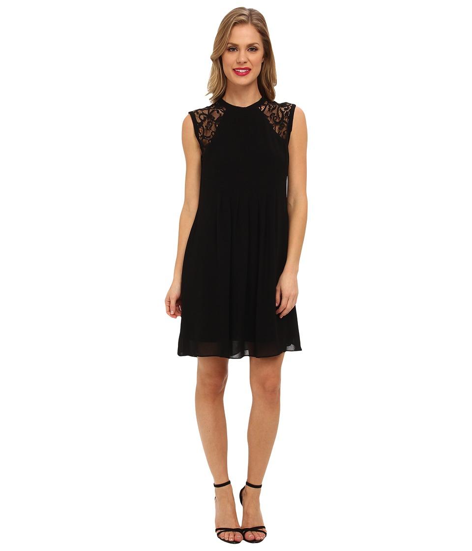 Nicole Miller - Morgan Scrolling Lace Dress (Black) Women