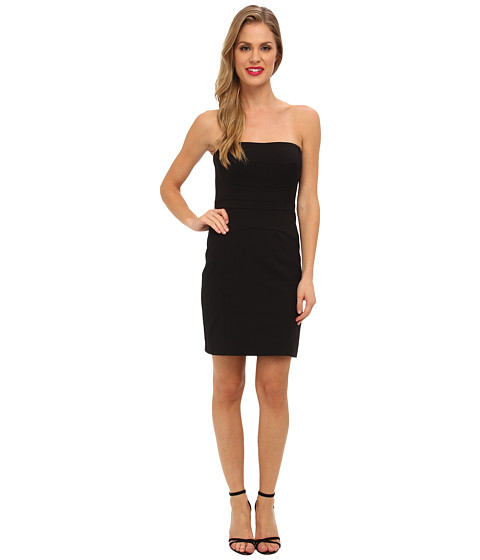Nicole Miller - Techy Cotton Strapless Fitted Dress (Black) Women's Dress