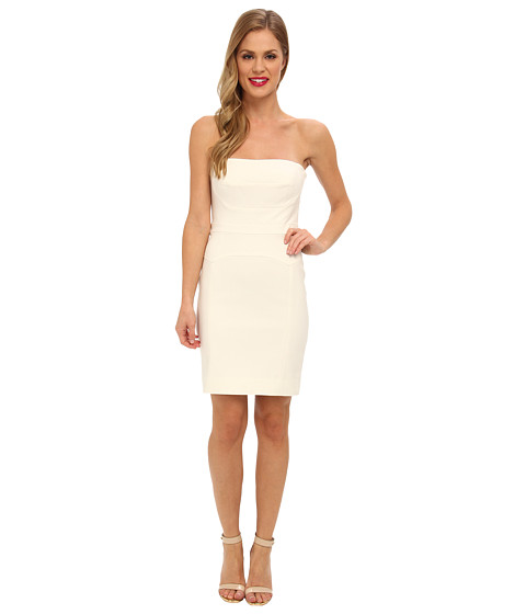 Nicole Miller - Techy Cotton Strapless Fitted Dress (White) Women
