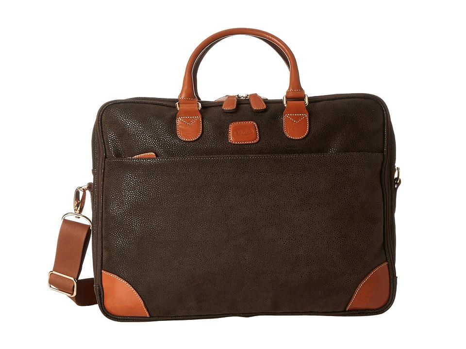 Bric's Milano - Computer Attache (Olive) Briefcase Bags