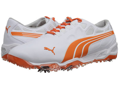 PUMA Golf - Biofusion (Vibrant Orange/White 2) Men's Golf Shoes