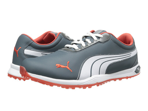 PUMA Golf - Bio Fusion Spikeless (Turbulence/White/Grenadine) Men's Golf Shoes