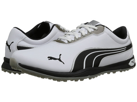 PUMA Golf - Bio Fusion Spikeless (White/Black/Silver Metallic) Men's Golf Shoes