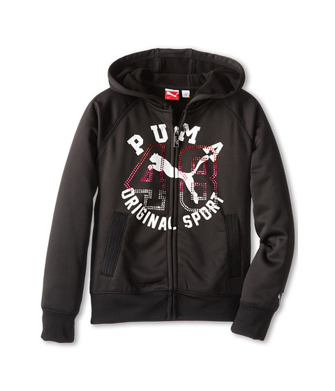 Puma Kids - Studded 48 Full Zip Hoodie (Big Kids) (Black) Girl