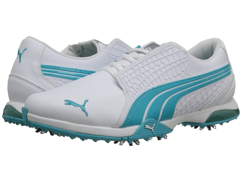PUMA Golf - Biofusion (White/Scuba Blue) Women's Golf Shoes