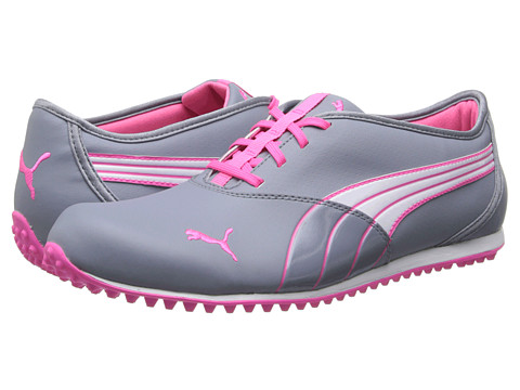 PUMA Golf - Monolite (Tradewinds/White/Fluro Pink) Women's Golf Shoes