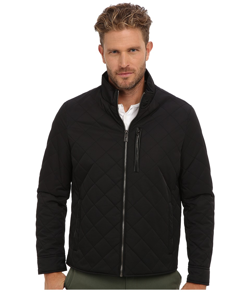 Cole Haan - Quilted Nylon Jacket (Black) Men's Jacket