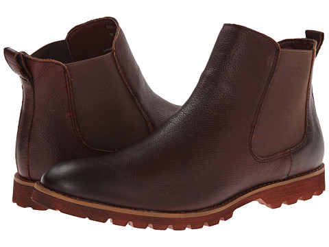 BUKS by Walk-Over - Donovan (Red Brown Rust Full Grain Leather) Men's Pull-on Boots