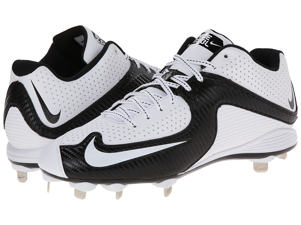 Nike - MVP Strike 2 Low Metal (White/Black/White) Men's Cleated Shoes