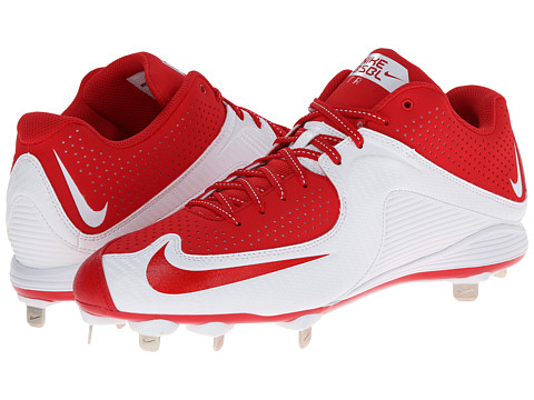 Nike - MVP Strike 2 Low Metal (University Red/White/University Red) Men's Cleated Shoes