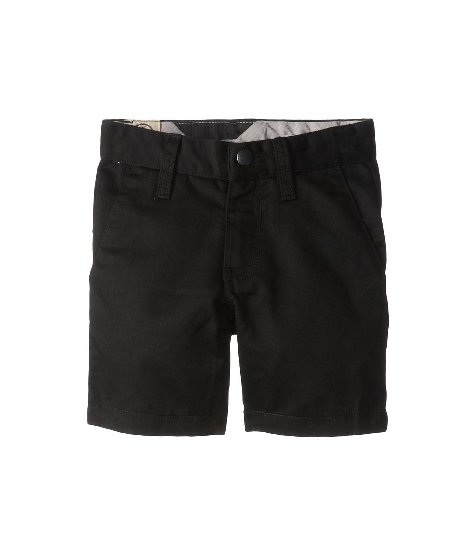 Volcom Kids - Frickin Chino Short (Toddler/Little Kids) (Black) Boy's Shorts