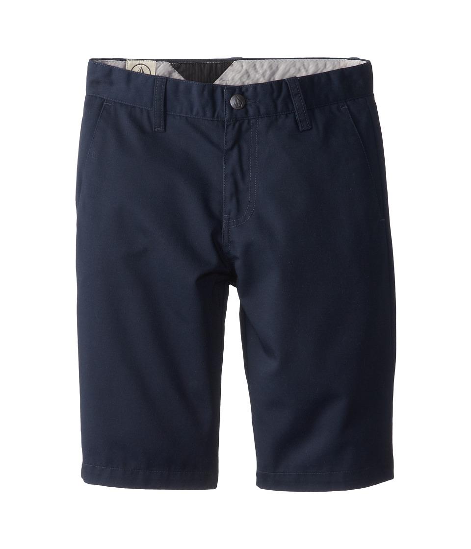 Volcom Kids - Frickin Chino Short (Big Kids) (Dark Navy) Boy's Shorts