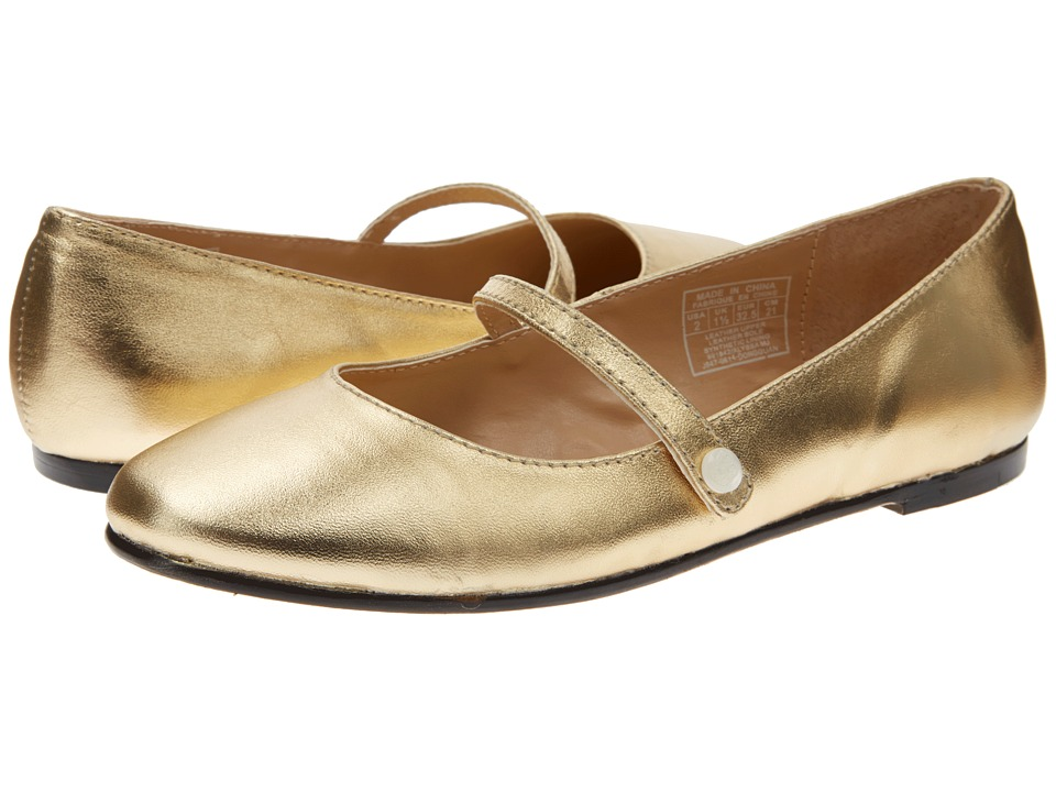 Polo Ralph Lauren Kids - Alyssa Mary Jane (Little Kid/Big Kid) (Gold Leather) Girl's Shoes