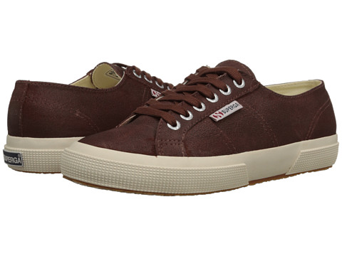 Superga - 2750 Waxed Suede (Mogano) Women's Lace up casual Shoes