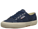 Superga 2750 Waxed Suede (Blue Nigh Shadow)