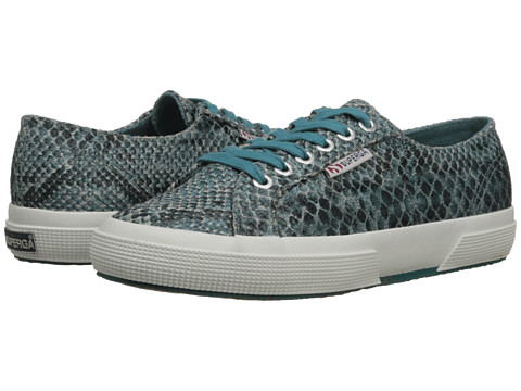 Superga - 2750 Cot Snake W (Snake Green) Women's Lace up casual Shoes