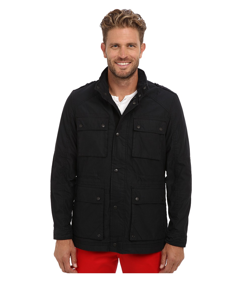 Cole Haan - Washed Cotton Utility Jacket (Black) Men's Jacket