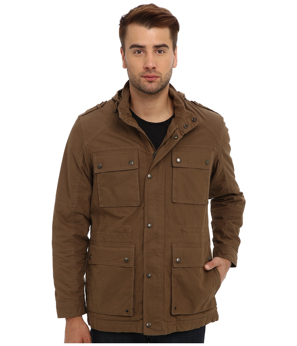 Cole Haan - Washed Cotton Utility Jacket (Teakwood) Men's Jacket