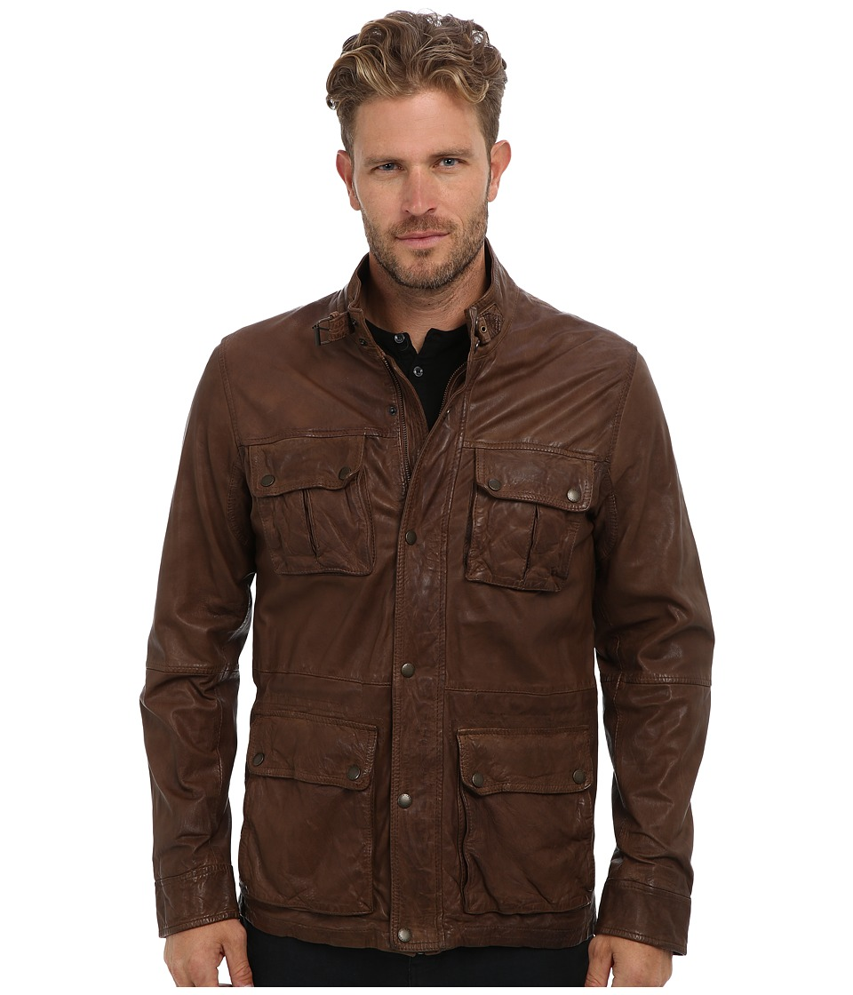 Cole Haan - Vintage Lamb Moto (British Tan) Men's Jacket