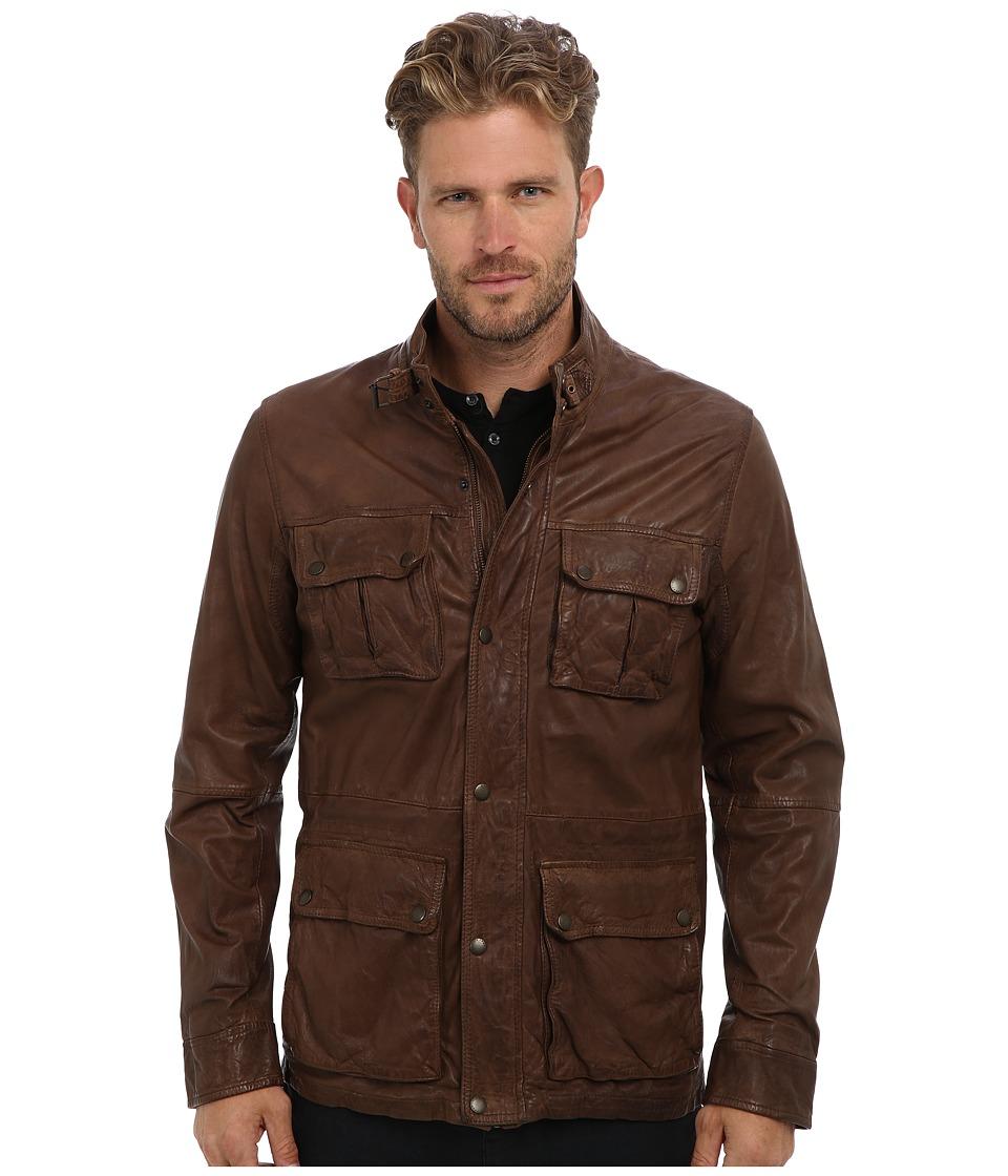 Cole Haan - Vintage Lamb Moto (British Tan) Men's Jacket