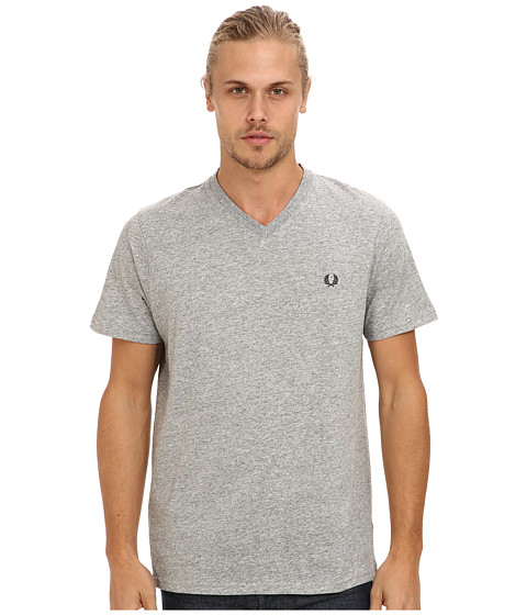 Fred Perry - Classic V-Neck Tee (Vintage Steel) Men