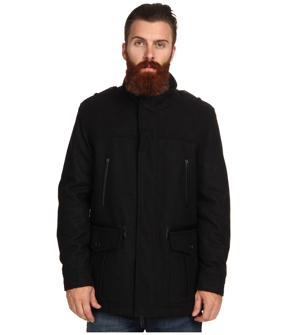 Cole Haan Wool Melton Carcoat (Castlerock) Men's Jacket