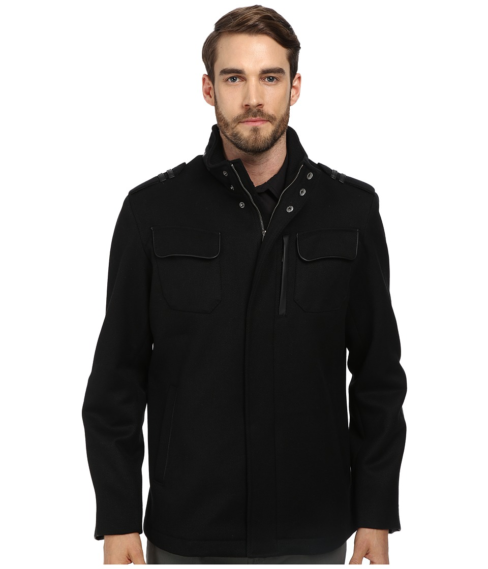 Cole Haan - Twill Military Jacket (Black) Men's Jacket