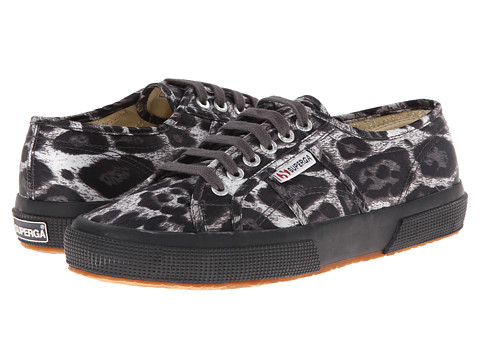 Superga - 2750 Animal Satin W (Grey Leopard) Women's Lace up casual Shoes