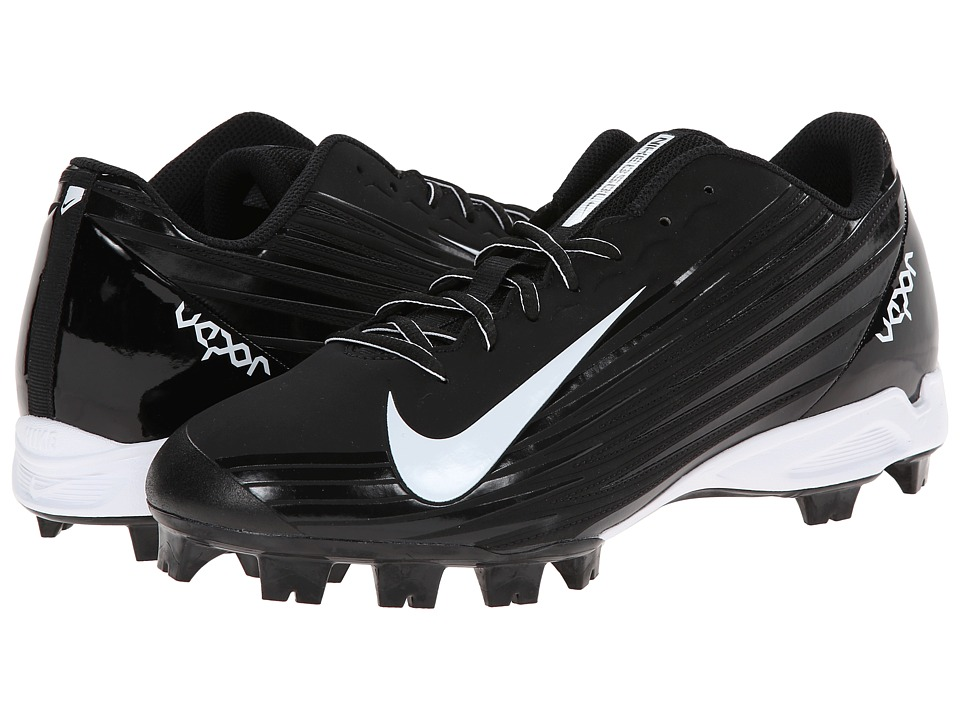Nike - Vapor Strike 2 MCS (Black/White) Men's Cleated Shoes