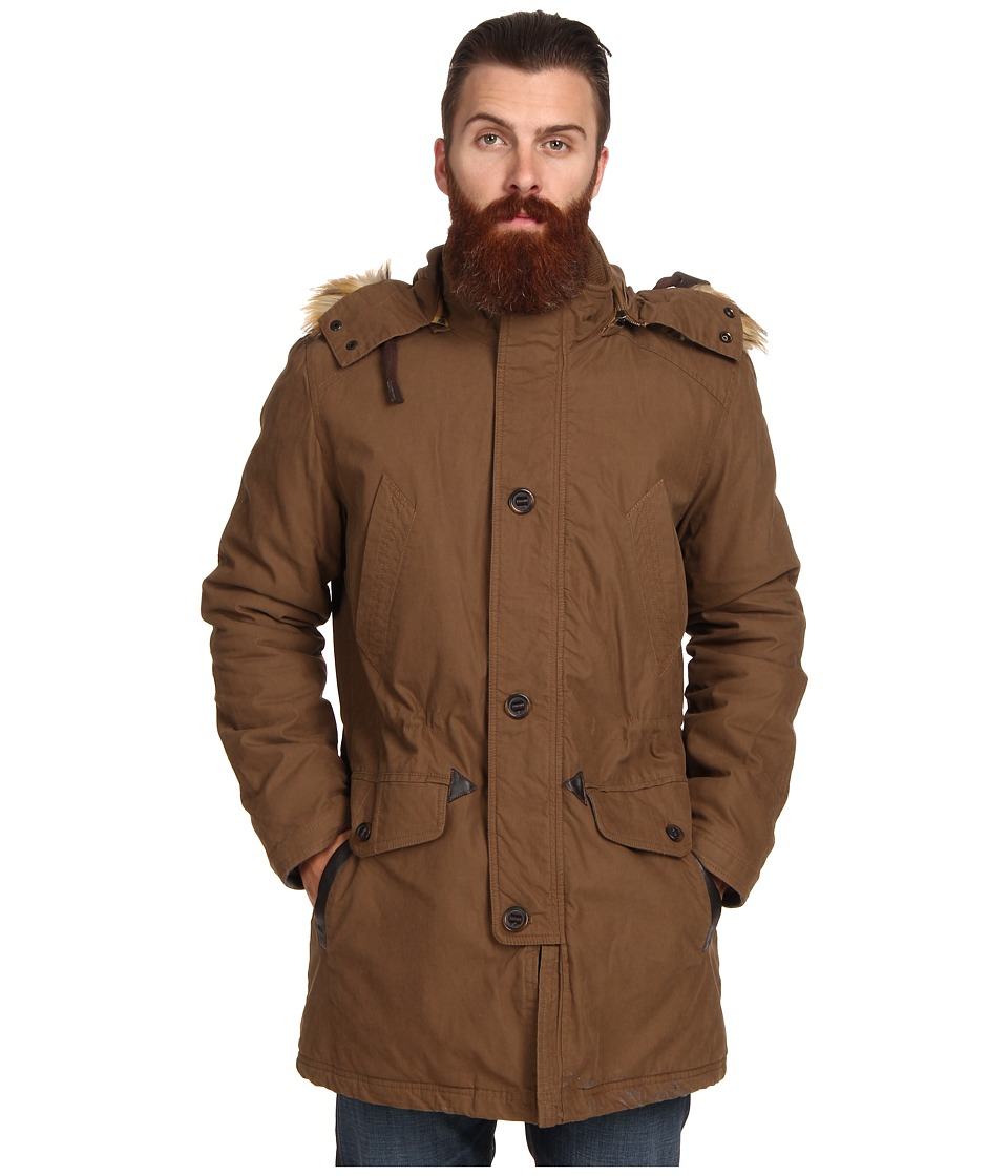 Cole Haan - Washed Military Parka (Teakwood) Men's Jacket