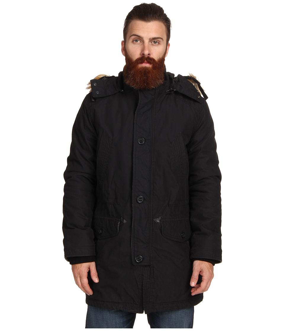 Cole Haan - Washed Military Parka (Black) Men's Jacket