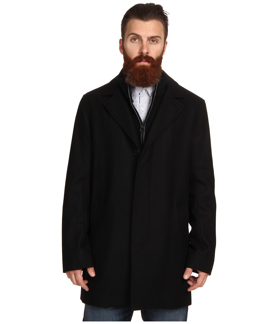 Cole Haan - Classic Topper w/ Bib (Black) Men's Coat