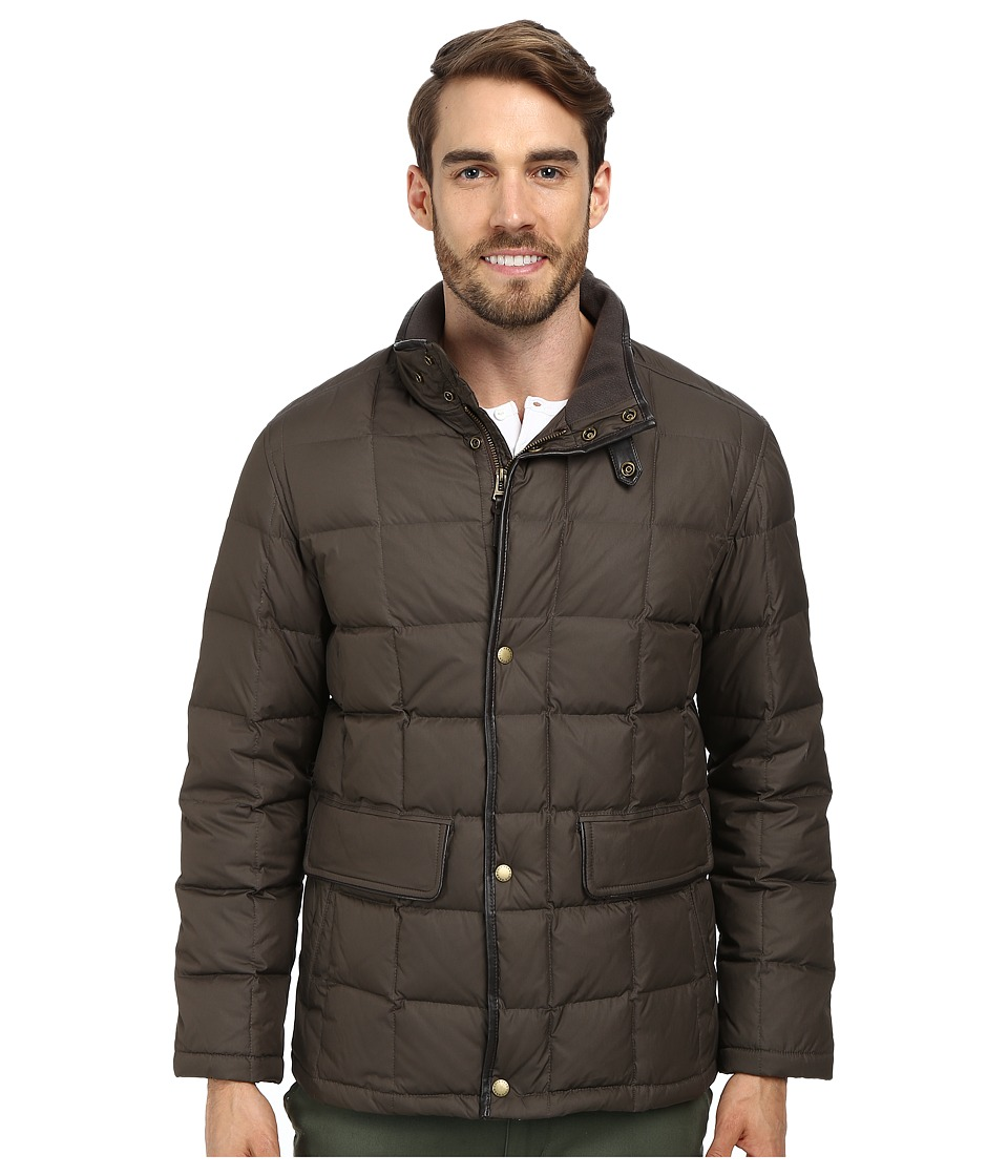 Cole Haan - Down Jacket w/ Box Quilt (Java) Men's Jacket