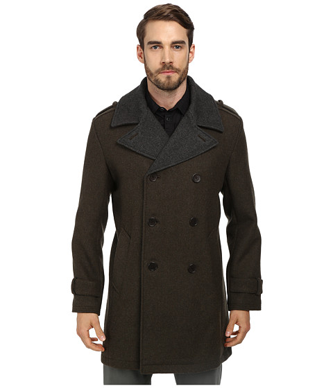 Cole Haan - Doubleface Wool Double Breasted Coat (Berkshire) Men's Jacket