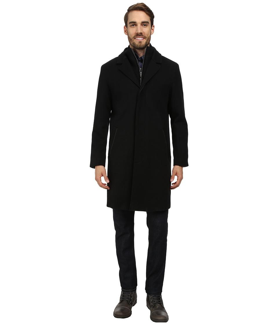 Cole Haan - Twill Topper w/ Knit Bib (Black) Men's Jacket