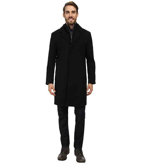 Cole Haan - Twill Topper w/ Knit Bib (Black) Men's Jacket